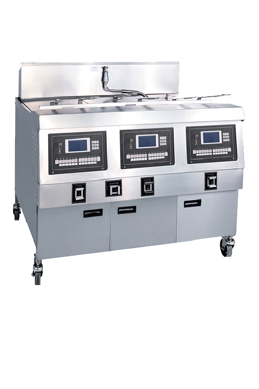 Electric Open Deep Fryer With LCD Panel & Three Tank