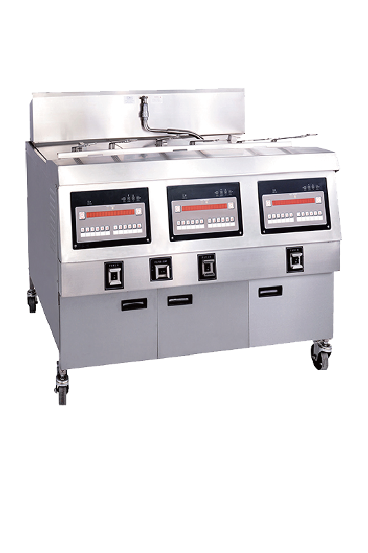 Commercial Countertop Gas Deep Fryer With Three Tank